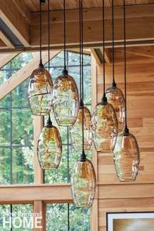 sophisticated berkshires cabin interiors