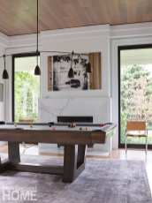 modern riverside home billiards rooms