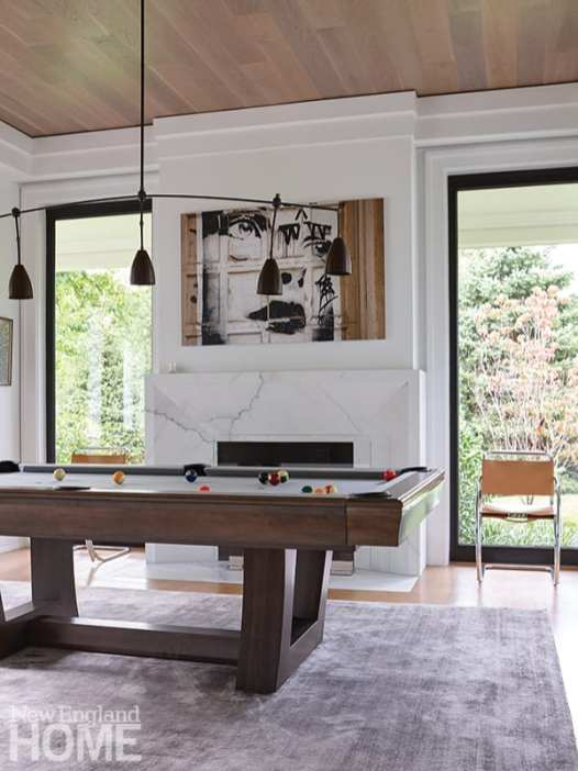 modern riverside home billiards rooms