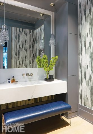 modern riverside home powder room