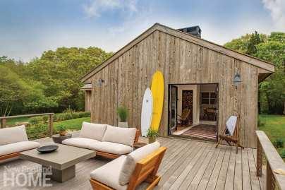 Cypress clad home and ipe deck on Martha's Vineyard