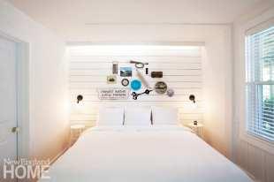 Room in Salt House Inn with shiplap wall