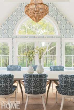 Blue and white Chatham dining room