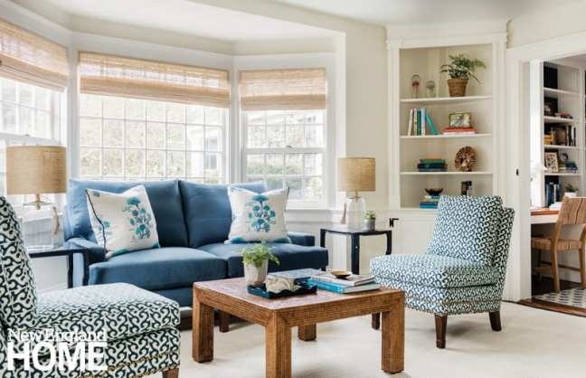 Blue and white Chatham living room