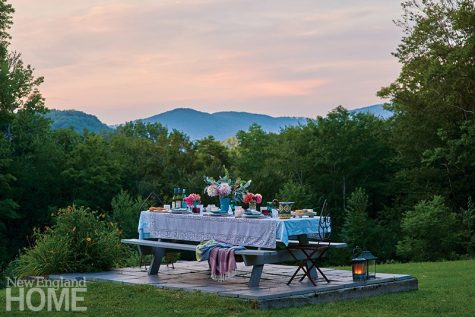 Beautifully set picnic table in the Vermont mountains