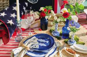 Setting the Table with Red, White & Blue