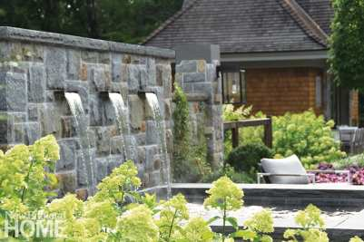 The spa was sited away from the pool area for privacy and quietude, designating it as a space for adults.