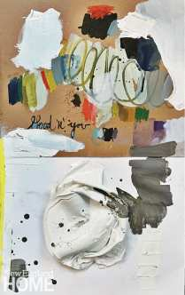 """Untitled (2020), 40""""H x 26""""W, mixed media on paper"""
