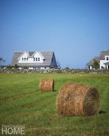 Twice a year, meadows are mowed; the bales serve as fitting testimony to a family's dedication to eco-stewardship.