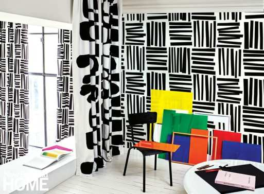 A room designed with the Liz Roach Optimism collection for Pierre Frey.