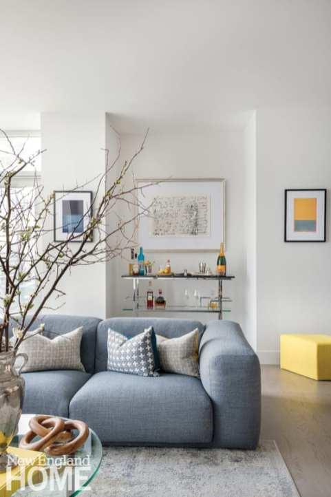 Living room featuring a Matthew Hilton sofa.