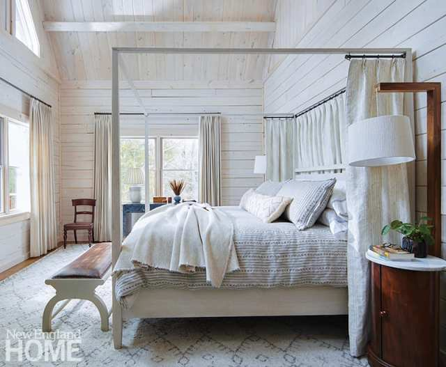 Man bedroom with white paneling