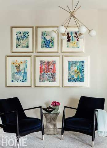Sitting area with contemporary art