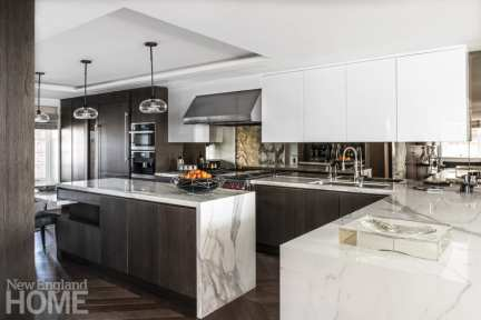 Fazzalari Grousbeck, who loves to cook Italian food, preps meals at Neolith countertops.