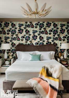 Guest room featuring Wayne Pate wall paper.