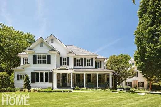 Enterior white and stone home