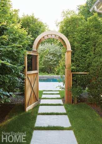 Arched garden gate