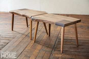 A love affair inspired this bench; when the relationship ended, Preble cut the bench in half—separated but still paired.