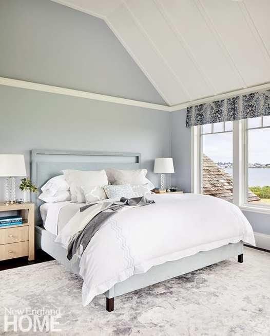 Serene Newport bedroom with ocean views