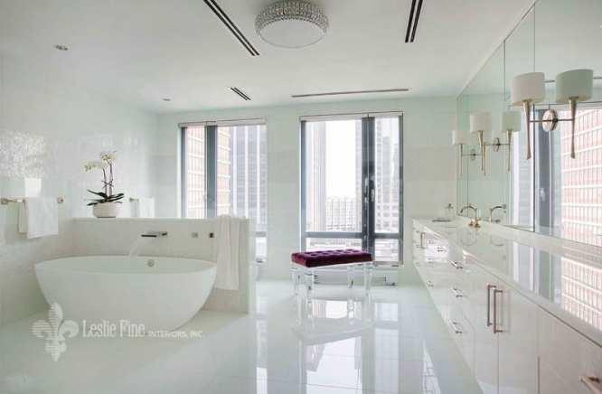 Lesie Fine luury bathroom Boston high rise