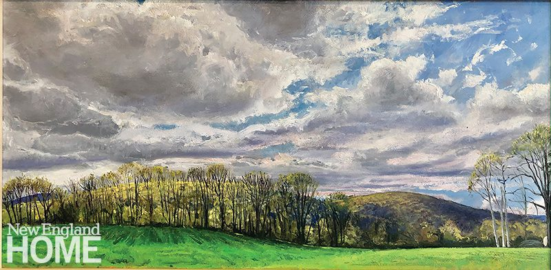 "Upper Pasture, Clark, 13˙""H x 28""W, oil on panel, 2021"