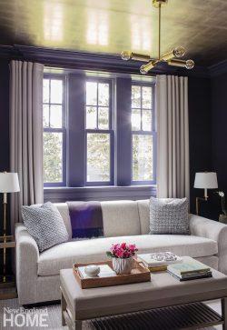 Coy den with purple walls