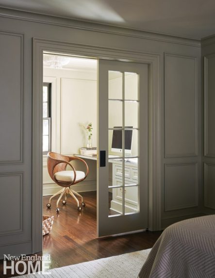Home office with traditional details