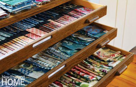 Drawers full of fabric napkins