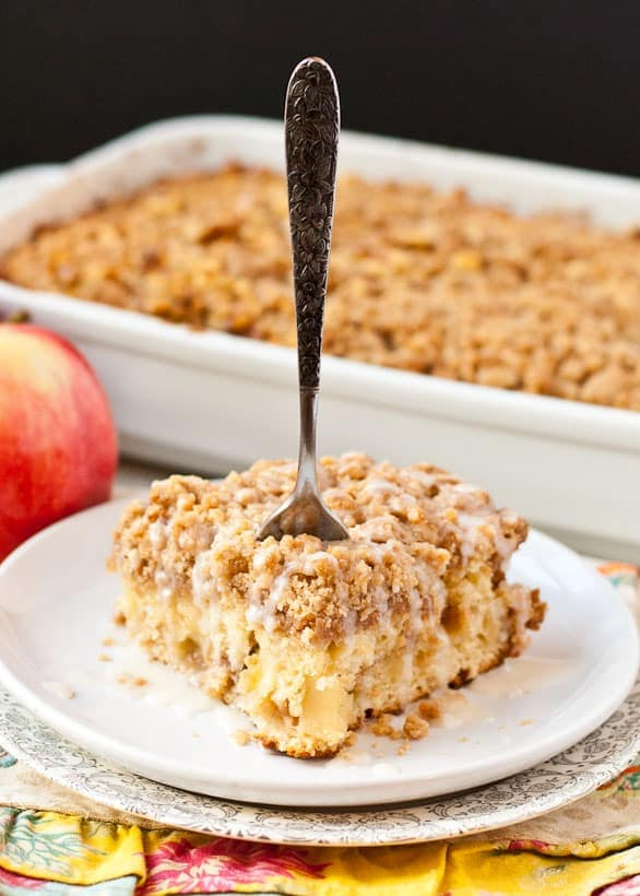 Lightly spiced Apple Crumb Coffee Cake is a perfect fall breakfast.