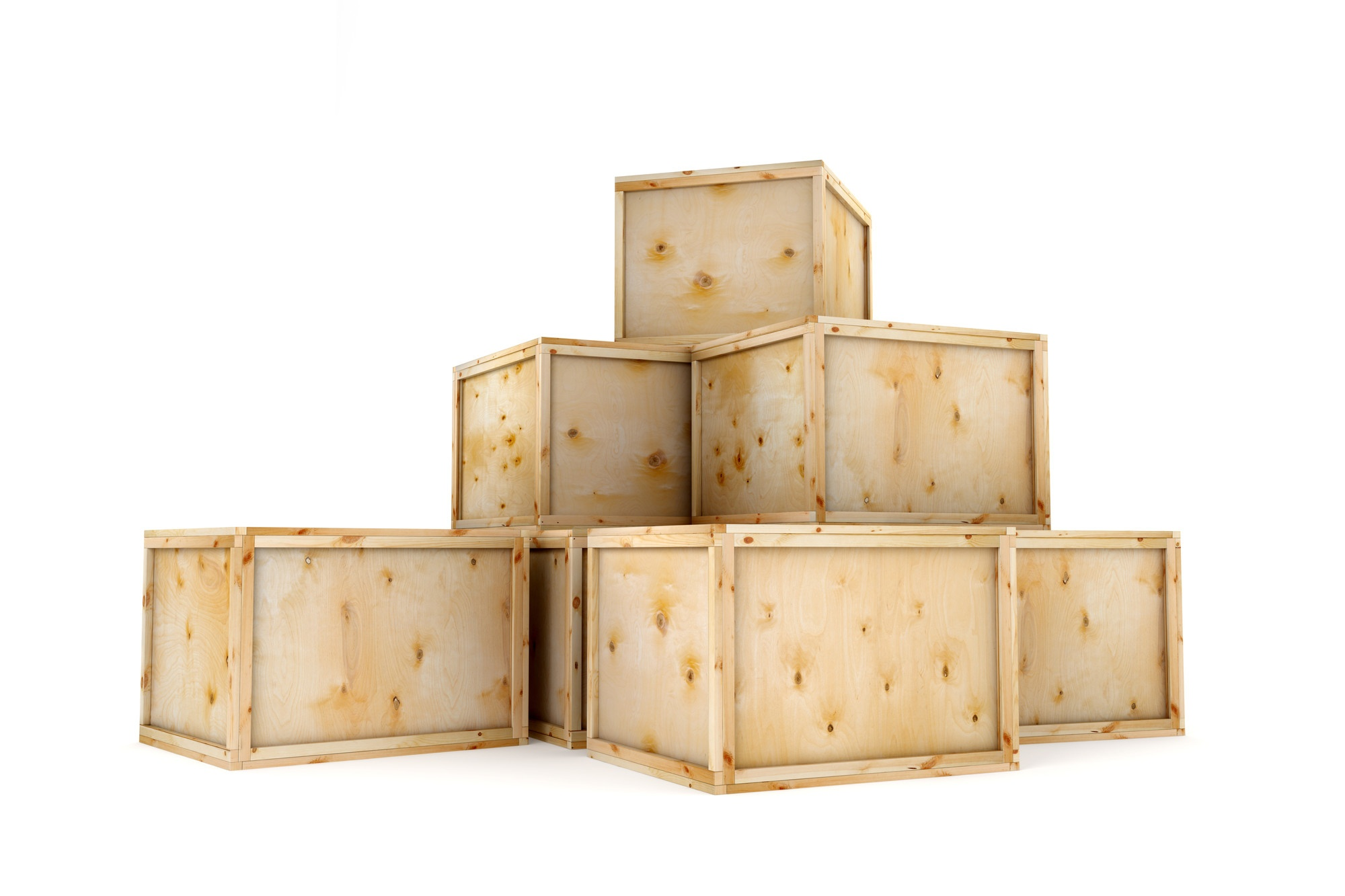 Wood crates packaging service