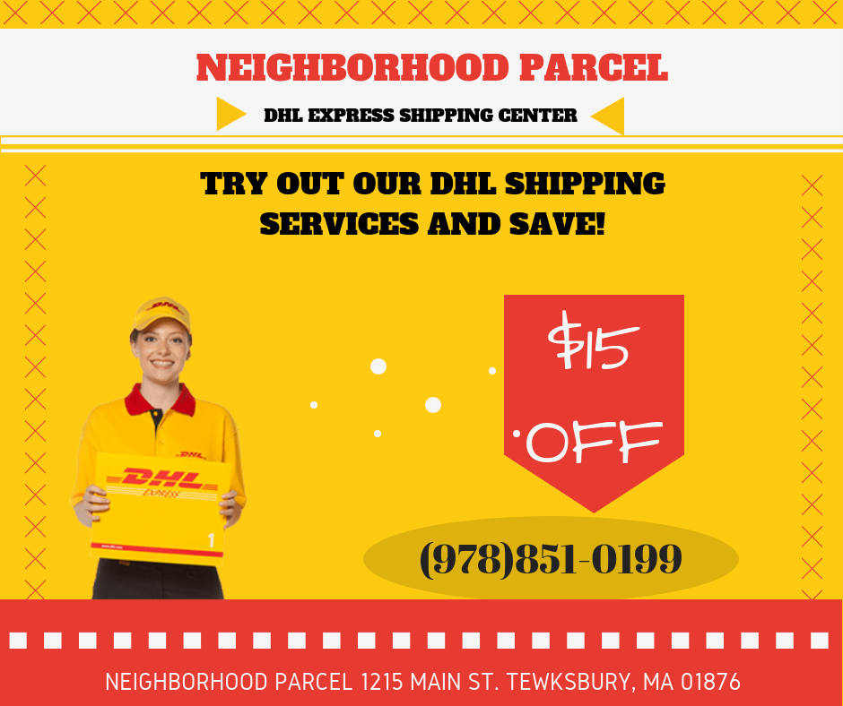 DHL International Shipping Dracut MA Discounted Shipping