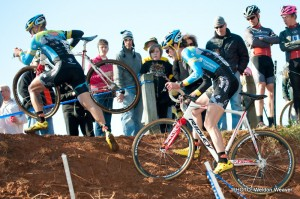 Adam Myerson, Travis Livermon. NCCX 10 State Championships Winton Salem, NC Decmeber 18. 2011. Photo by Weldon Weaver