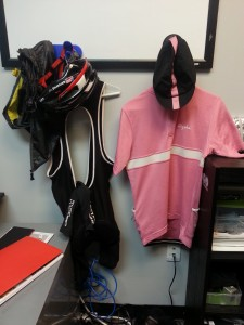 My co-workers love that I air dry my clothes in the office.
