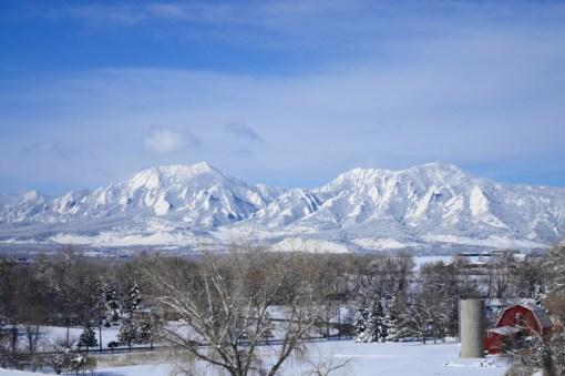 Cold Winter Morning Over Boulder