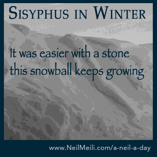 It was easier with a stone this snowball keeps growing
