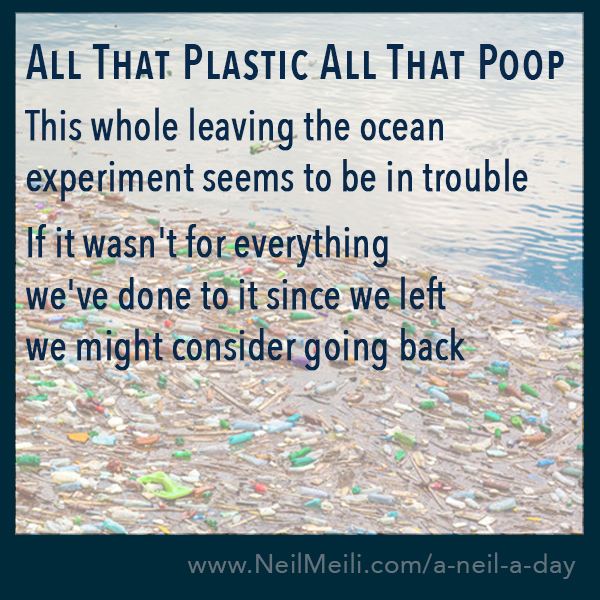 This whole leaving the ocean experiment seems to be in trouble    If it wasn't for everything  we've done to it since we left we might consider going back
