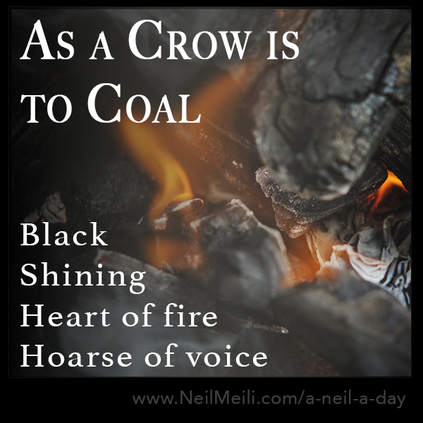 Black  Shining  Heart of fire Hoarse of voice