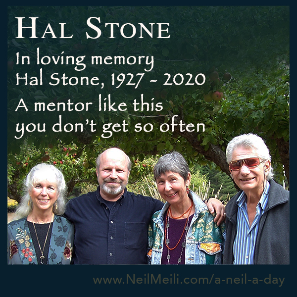 In loving memory  Hal Stone, 1927 - 2020  A mentor like this you don't get so often