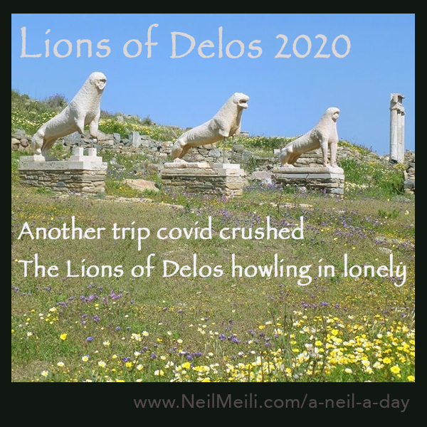 Another trip covid crushed the Lions of Delos howling in lonely