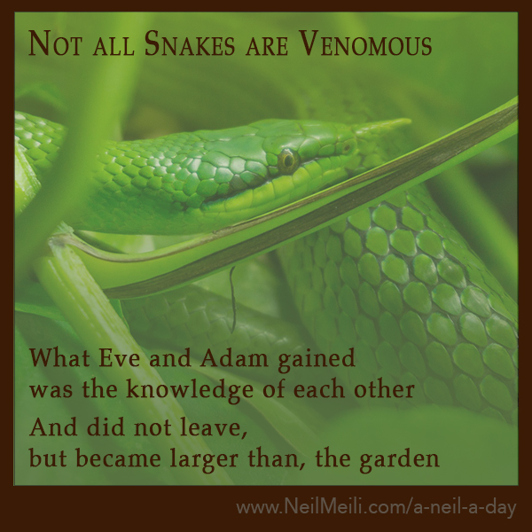 What Eve and Adam gained  was the knowledge of each other And did not leave,  but became larger than, the garden