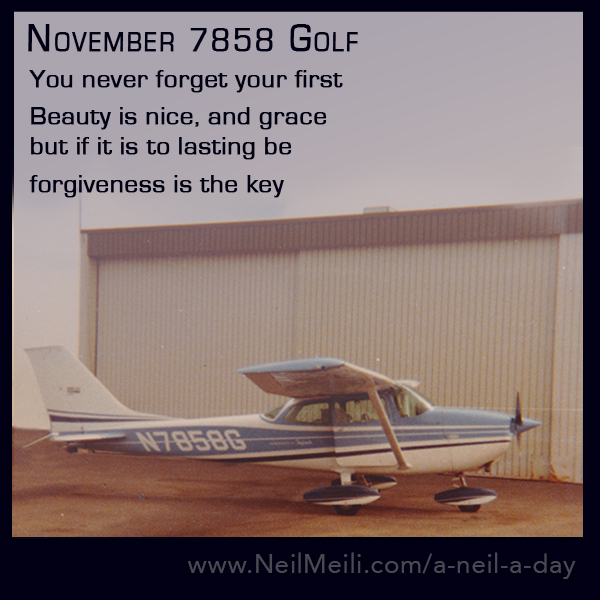 You never forget your first  Beauty is nice, and grace but if it is to lasting be  forgiveness is the key