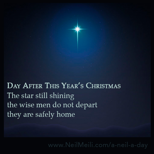 The star still shining the wise men do not depart they are safely home