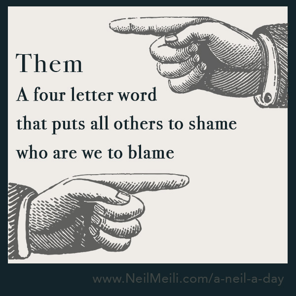 A four letter word that puts all others to shame who are we to blame
