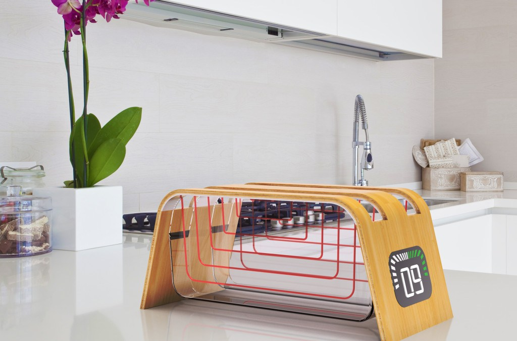 Bamboo and Glass Toaster by James Stumpf
