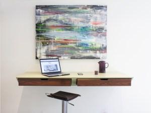 floating kitchen desk by neil norton design