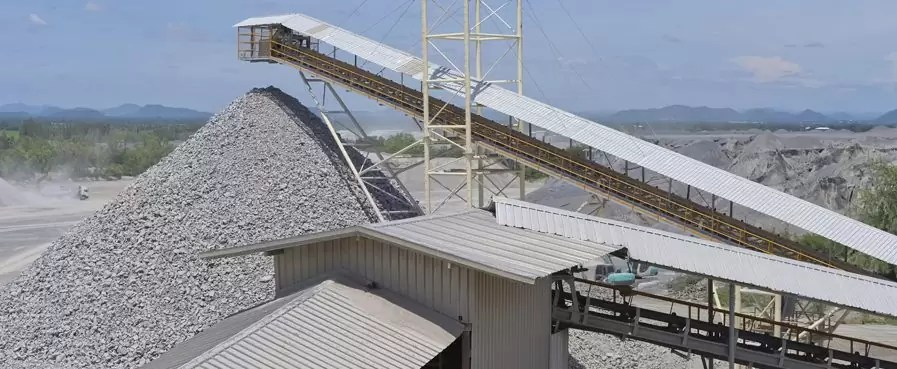 Crushing plant and limestone mine
