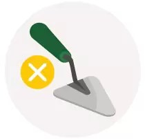 Illustration of a builders trowel