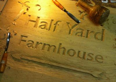 Farm Sign in Oak