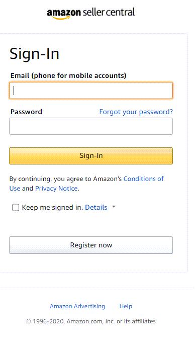 Open Amazon Seller Account