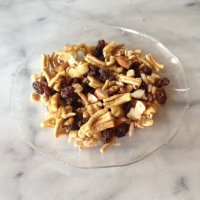 Enjoy this healthier lower cal trail mix loaded with fiber and protein!